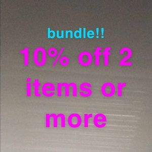 bundle 10% off 2 items or more